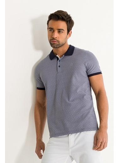 Avva Erkek  Polo Yakalı Baskılı Tişört A01Y1052 Lacivert